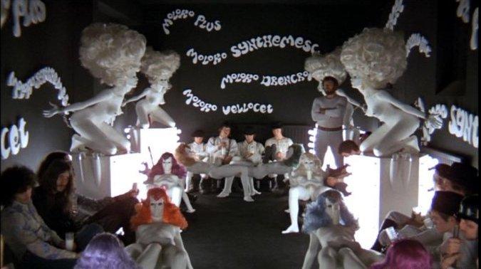 Opening Shot in A Clockwork Orange.