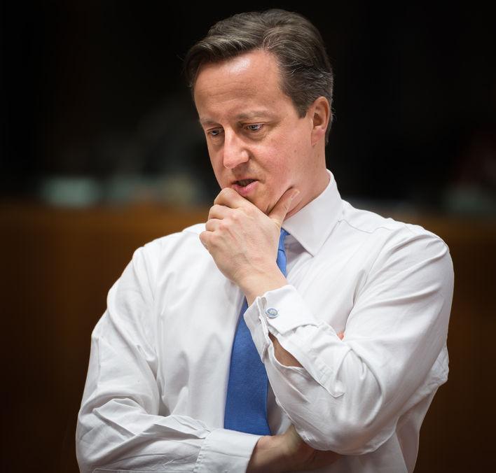 36545737 - brussels, belgium - feb 12, 2015: british prime minister david cameron at the informal eu summit in brussels (belgium)