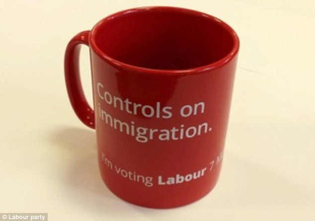 The Immigration Mug for Labour Leader Ed Miliband's 2015 run for Primi Minister.