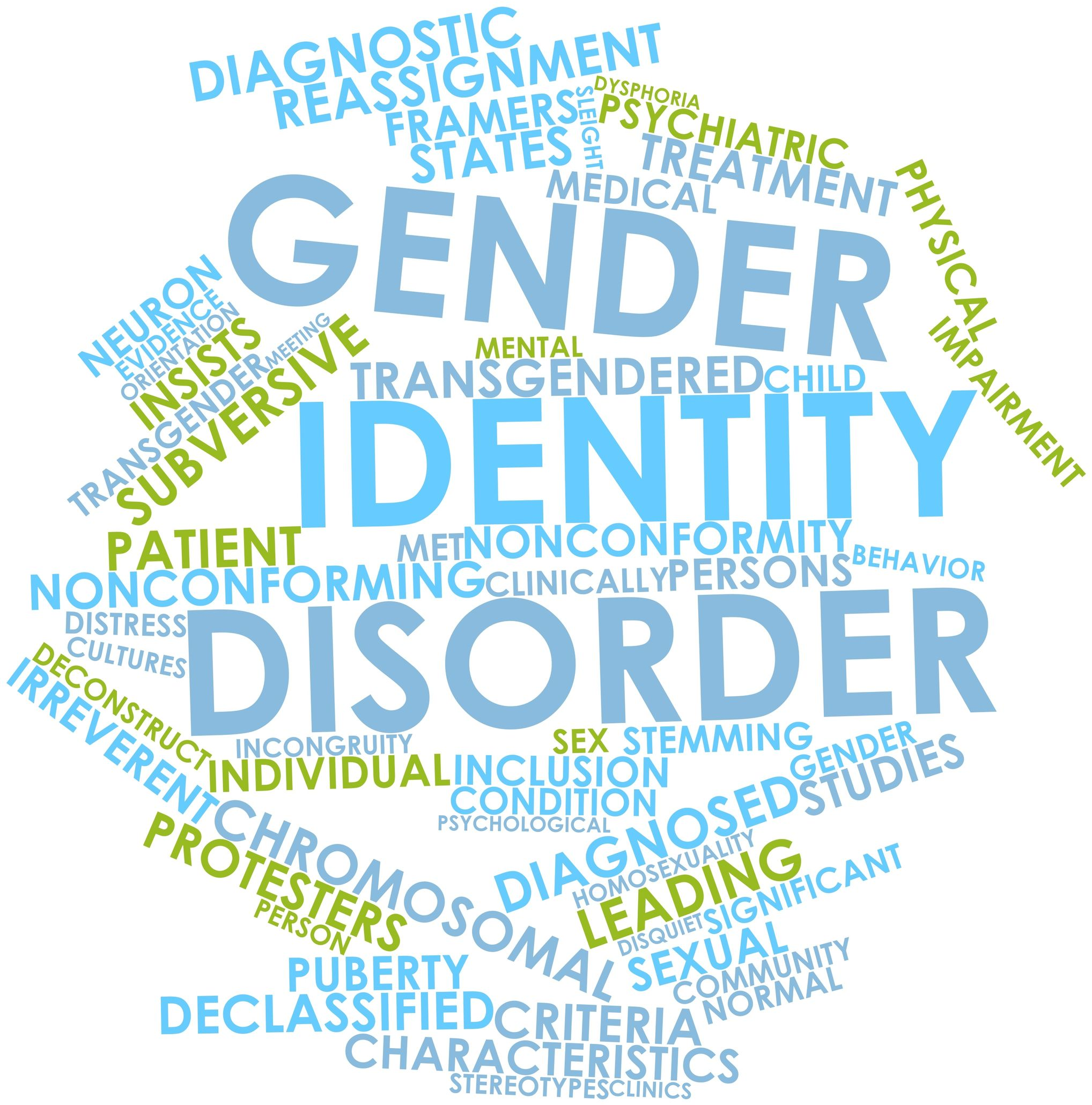 16629022 - abstract word cloud for gender identity disorder with related tags and terms