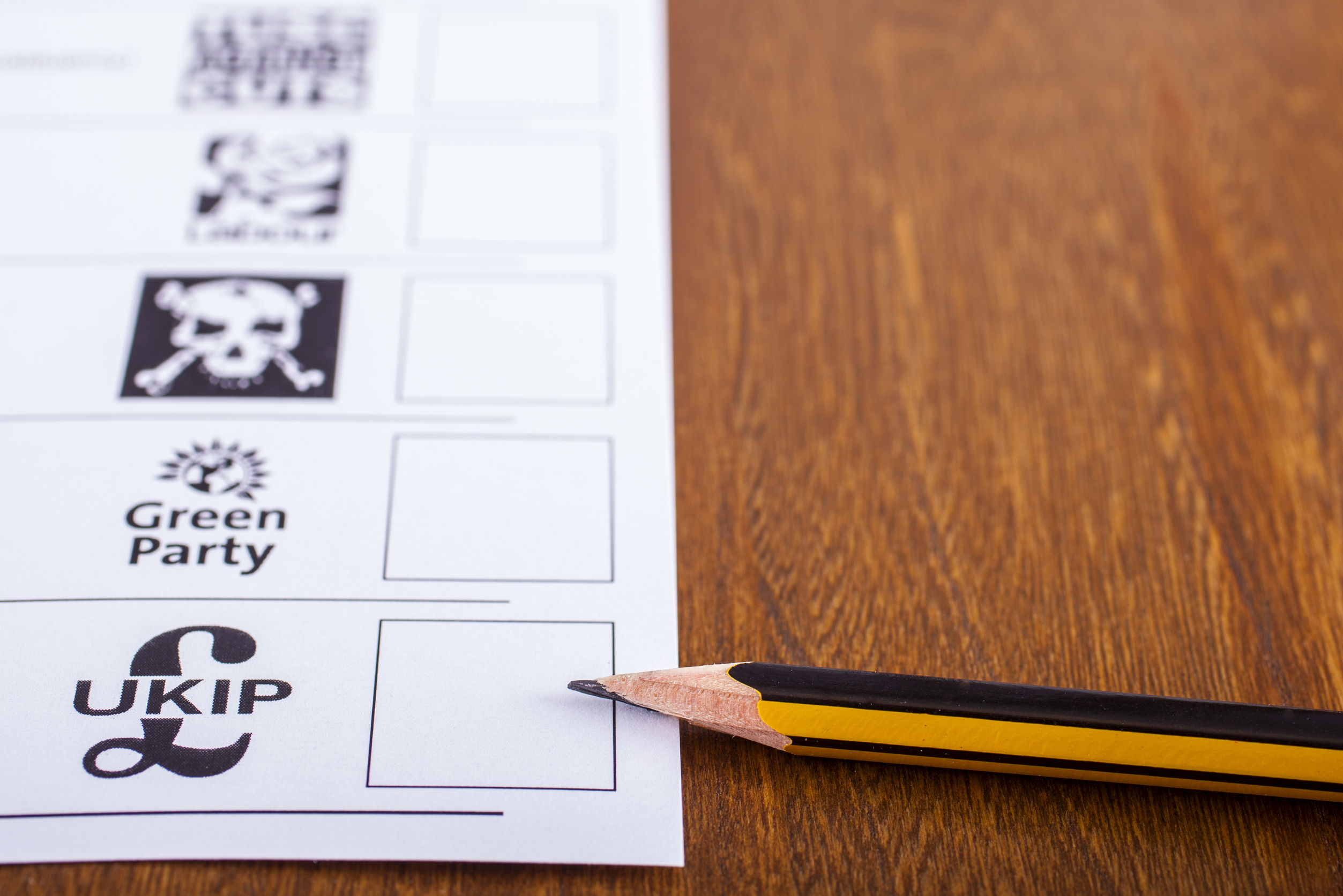 41052231 - london, uk - may 7th 2015: ukip (uk independence party) on a ballot paper for a general election, on 7th may 2015.